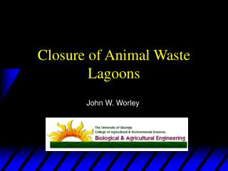 Closure of Animal Waste Lagoons