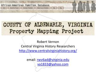 R obert  Vernon Central Virginia History Researchers centralvirginiahistory/