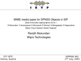 Ranjith Mukundan Wipro Technologies
