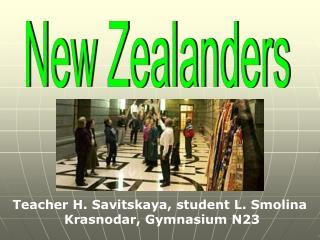 New Zealanders