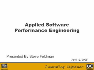 Applied Software Performance Engineering