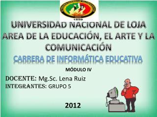 UNIVERSIDAD NACIONAL DE LOJA AREA DE LA EDUCACIÓN, EL ARTE Y LA COMUNICACIÓN