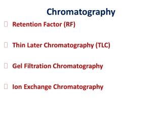 Liquid Chromatography HPLC