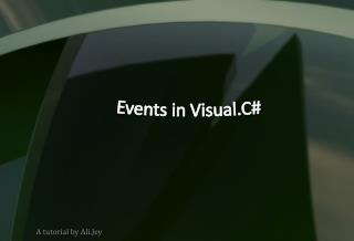 Events in Visual.C#