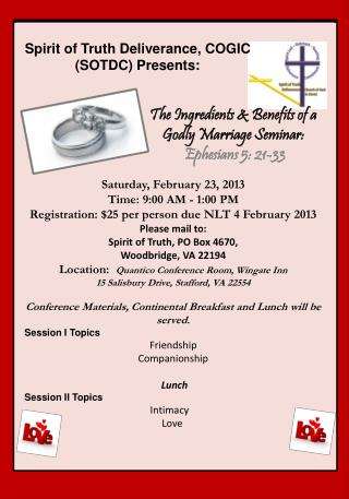 Saturday, February 23, 2013  Time: 9:00 AM - 1:00 PM