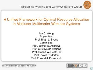 A Unified Framework for Optimal Resource Allocation  in Multiuser Multicarrier Wireless Systems