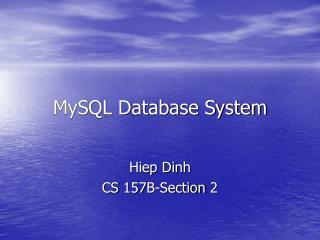 MySQL Database System