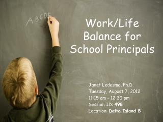 Work/Life Balance for School Principals
