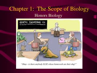 Chapter 1:  The Scope of Biology