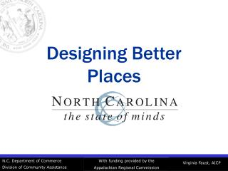 Designing Better Places