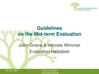 Guidelines  on the Mid-term Evaluation