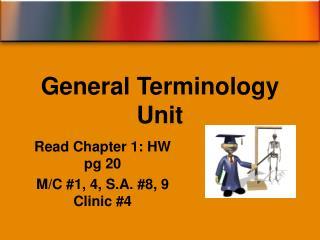 General Terminology Unit
