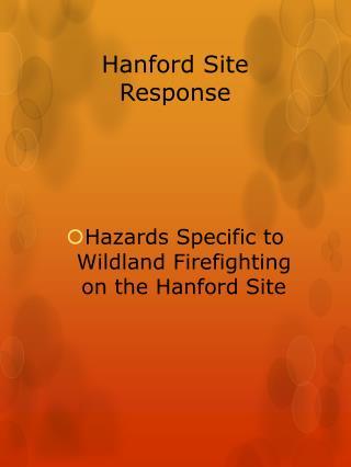 Hanford Site Response