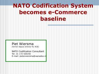 NATO  Codification System becomes e-Commerce baseline