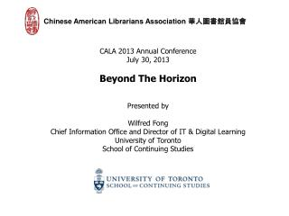 Chinese American Librarians Association  華人圖書館員協會