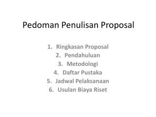 Pedoman Penulisan Proposal