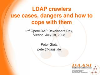 LDAP crawlers use cases, dangers and how to cope with them