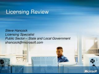 Licensing Review