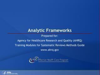 Analytic Frameworks