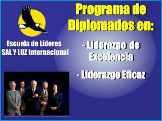 Programa de Diplomados en:  Liderazgo  de Excelencia  Liderazgo Eficaz