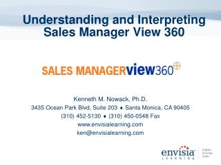Understanding and Interpreting Sales Manager View 360