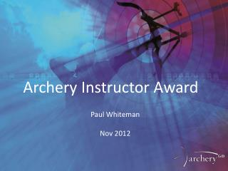 Archery Instructor Award