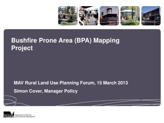 Bushfire Prone Area (BPA) Mapping Project