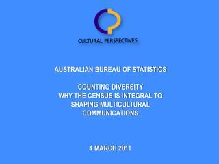 AUSTRALIAN BUREAU OF STATISTICS COUNTING DIVERSITY