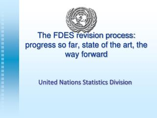 The FDES revision process: progress so far, state of the art, the way forward