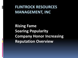 Flint Rock Resources Management LLC