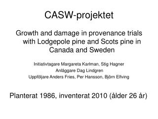 CASW-projektet