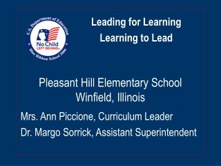 Pleasant Hill Elementary School Winfield, Illinois