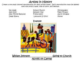 Artists in History