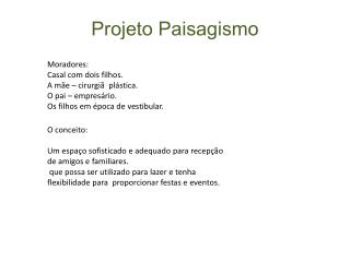Projeto Paisagismo