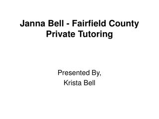Janna Bell - Fairfield County Private Tutoring