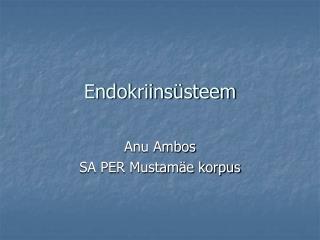 Endokriinsüsteem
