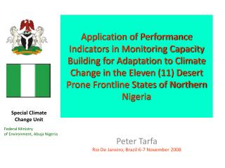 Application of Performance Indicators in Monitoring Capacity Building for Adaptation to Climate Change in the Eleven 11