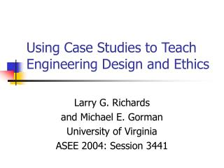 case studies in ethics and integrity