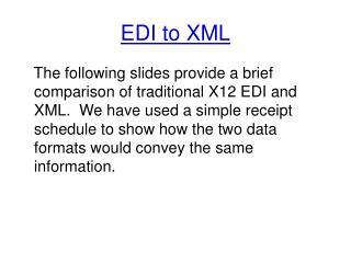 EDI to XML