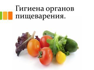 Гигиена органов пищеварения.