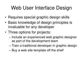 Web User Interface Design