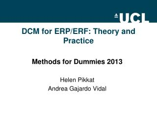 DCM for ERP/ERF: Theory and Practice
