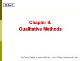 Chapter 8:  Qualitative Methods