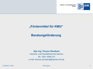 """Fördermittel für KMU"" Beratungsförderung"