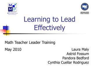 Learning to Lead Effectively