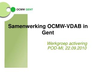 Samenwerking OCMW-VDAB in Gent