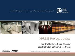 XPRESS Project Update