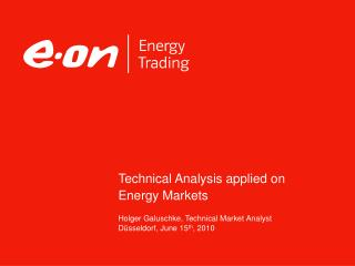 Technical Analysis applied on Energy Markets