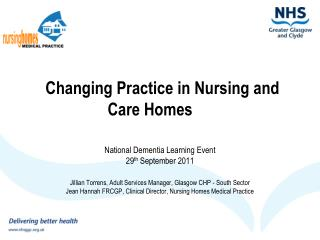 Changing Practice in Nursing and Care Homes