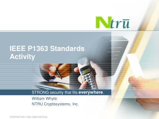 IEEE P1363 Standards Activity